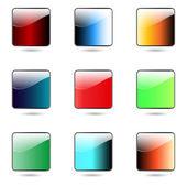 Farbige app schaltflächen festlegen. — Stockvektor