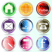 Banner buttons web icons. — Stock Vector
