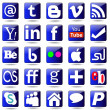 Social mediSet icons. — Stock Vector #37978703