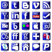 Social media Set icons. — Stock Vector