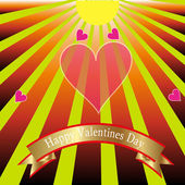 Happy valentines day. — Stock Vector