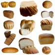 Stock Photo: Fresh bread isolated on white.