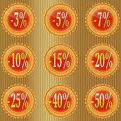 Label is a discount. — Stock Vector