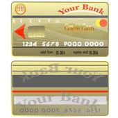 Kreditní karty. — Stock vektor