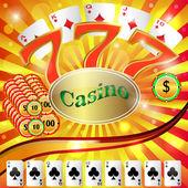 Casino gambling. — Stock Vector