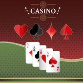 Casino-glücksspiel. — Stockvektor