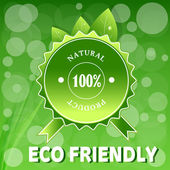 Green ECO FRIENDLY. — Stock Vector