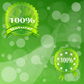 Label Green ECO. — Stock Vector