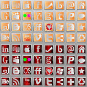 Social media l icons. — Stock vektor