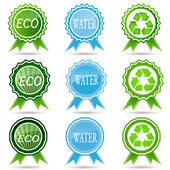 Eco labels with  design. — Stock Vector