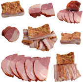 Variety of salami and ham. — Stock Photo