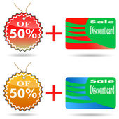 Discount label and sticker. — Stock Vector