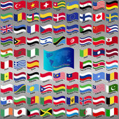 Flags from world. — Stockvector