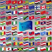 Flags from world. — Vector de stock