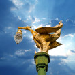 Beauty golden swan street lamp — Stock Photo