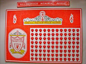 Hillsborough Memorial Mosaic — Stock Photo