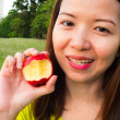 Womand red apple — Stock Photo #24802935