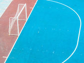 Football or futsal concrete ground — Stock Photo