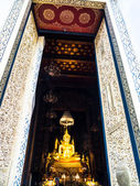 Principle Buddha image in a Wat Bowon Niwet — Stock Photo