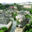 Panoramatic view of the Luxembourg - Stock Photo