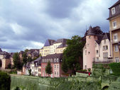Panoramatic view of the Luxembourg — Stock Photo