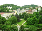 Panoramic view of Karlovy Vary — Stock Photo