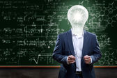 Teacher with ideas — Stock Photo