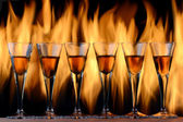 Flaming Cocktails — Stock Photo