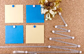 New year's resolutions corkboard — Stockfoto