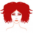Redhead Stylish Girl — Stock Vector