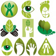 Eco Logos Vector Set — Stock Photo
