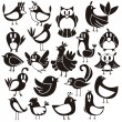 vogels vector set — Stockvector  #28093911