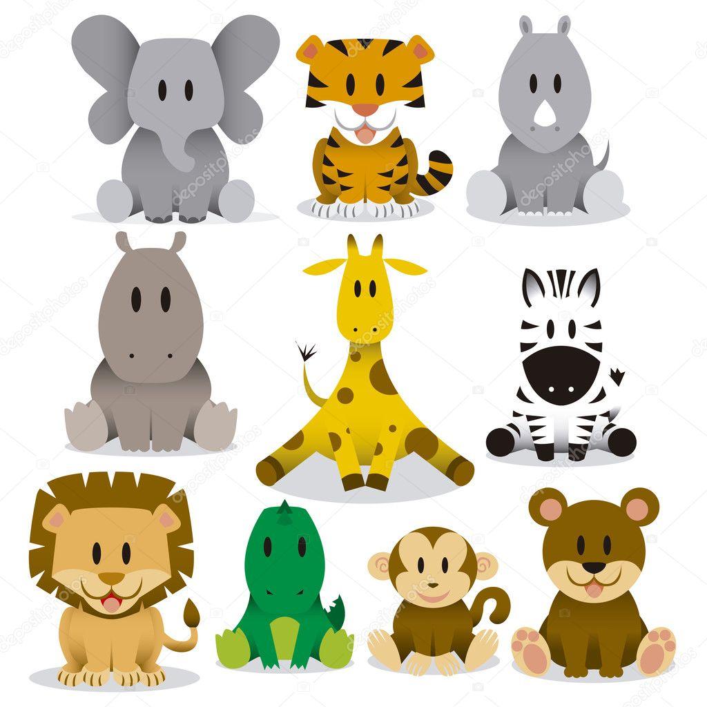 Dibujos Animados De Animales Salvajes Mallas Y Leggins