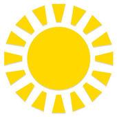Streszczenie stylowy słońce ikona na białym tle — Wektor stockowy