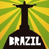 Brezilya şık illüstrasyon izole arka plan üzerinde — Stok Vektör
