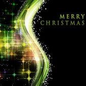 輝く星と幻想的なクリスマス波デザインします。 — ストック写真