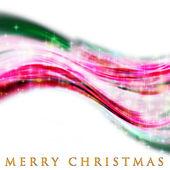 Fantastisk jul våg design med snöflingor och lysande stjärna — Stockfoto