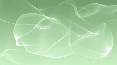 Underbar video animation med rörliga våg partikel objektet, slinga hd 1080p — Stockvideo