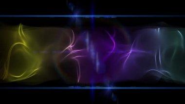 Vídeo de animación futurista con objeto de onda y las luces, lazo hd 1080p — Vídeo de Stock