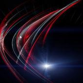 Futuristischen technologie wave hintergrunddesign mit licht — Stockfoto