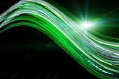 Futuristic technology wave background design with lights — Foto Stock