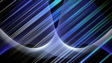 Futurystyczny animacji wideo z paskiem tło w zwolnionym tempie, pętla hd 1080p — Wideo stockowe