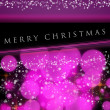 Wonderful Christmas background design illustration with bubbles — Foto Stock