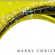 Fantastic Christmas wave design with glowing stars — Stockfoto