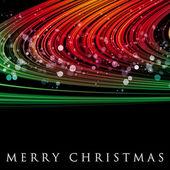 Fantastische weihnachten welle design mit schneeflocken — Stockfoto