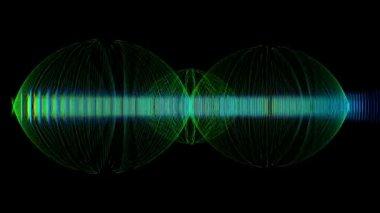 Animazione video futuristico con oggetto in leggero movimento, ciclo hd 1080p — Video Stock