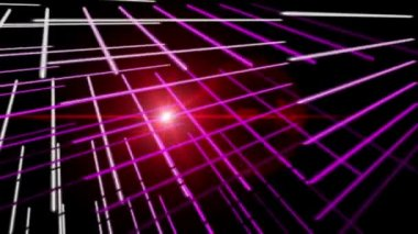 Futuristic video animation with moving stripe object and lights, loop HD 1080p — Stock Video