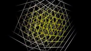Animazione video futuristico con movimento oggetto striscia e luci, ciclo hd 1080p — Video Stock
