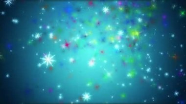 Wonderful christmas video animation with moving stars and lights, loop HD 1080p — Stock Video