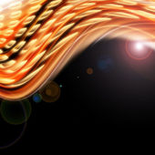 Futuristic technology wave background design with lights — Stock Photo